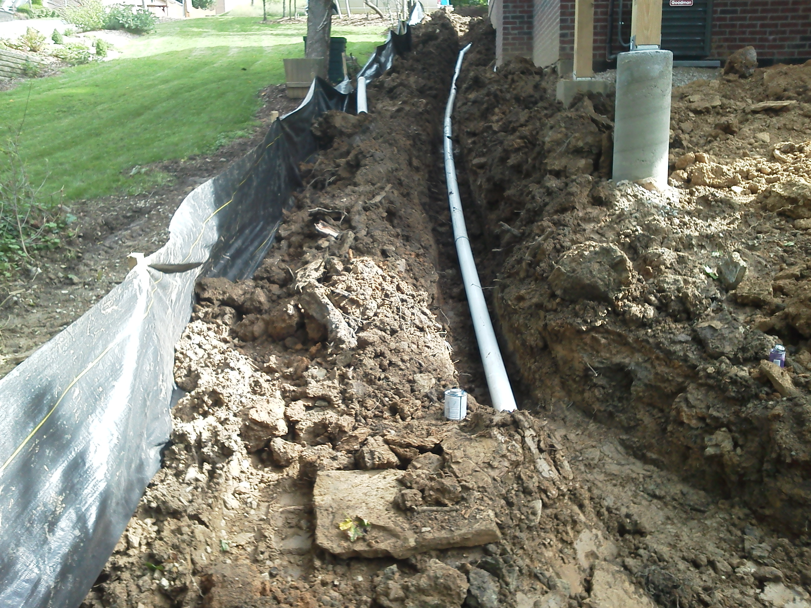 Pittsburgh french drain systems j bird 39 s landscaping for French trench drain
