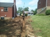 J Birds Process of French Drain Install