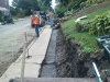 Process of Retaining Wall being built