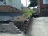 Retaining Wall being finalized in South Hills
