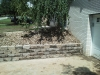 Completed Retaining Wall in South Hills